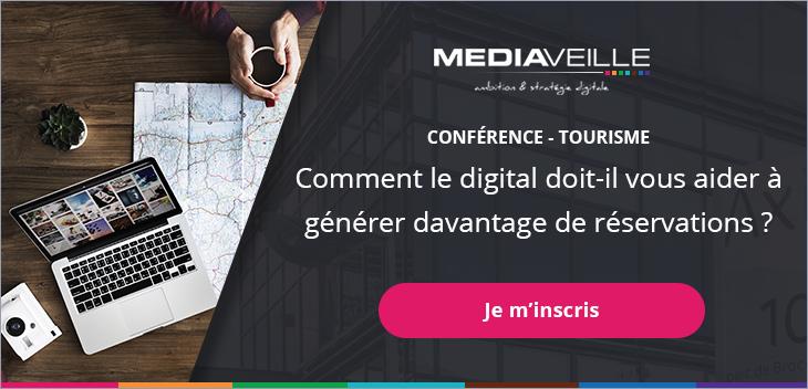 """Inscrivez-vous à la conférence """"Comment le digital doit-il vous aider à générer davantage de réservations ?"""" dédiée au tourisme"""