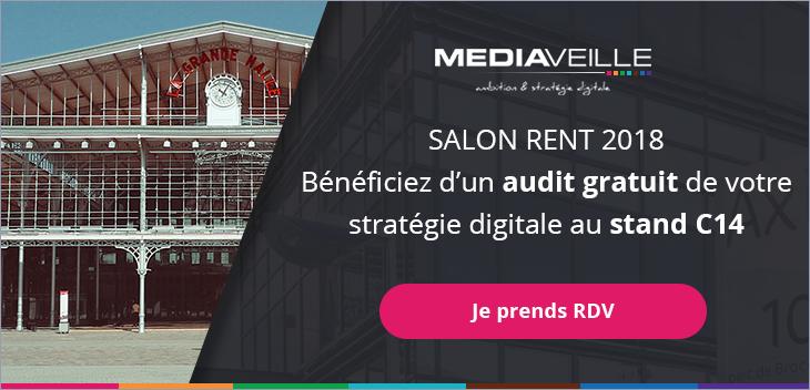 Bénéficiez d'un audit gratuit de votre stratégie digitale au stand C14 au salon RENT2018