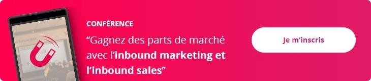 Inscrivez-vous à la conférence sur l'inbound marketing et sales
