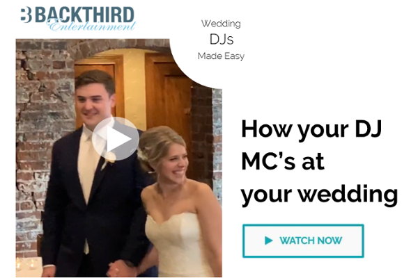 How your DJ MC's at your wedding [VIDEO]