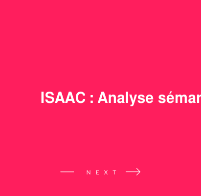 ISAAC : Analyse sémantique