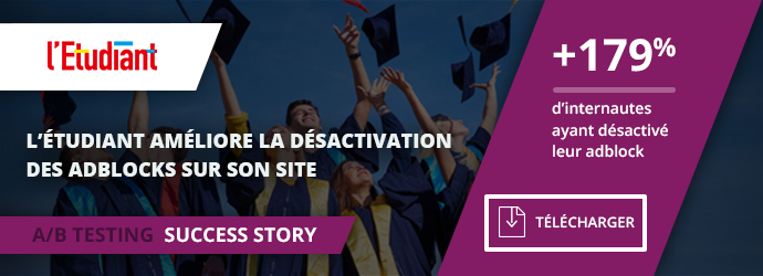success story ab testing l'étudiant