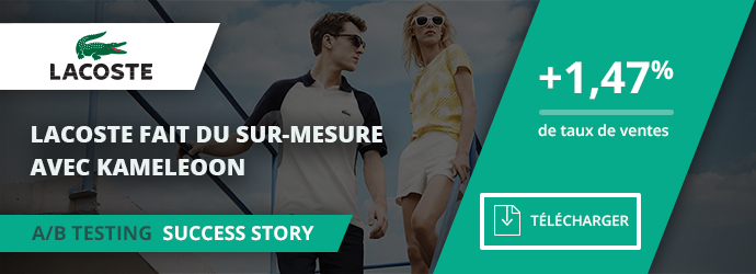 success story Lacoste - widget recommandation taille