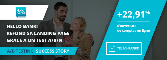 success story Hellobank! - refonte landing page