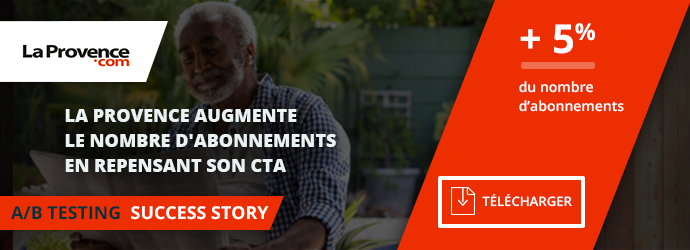 success story La Provence - contenus premium cta