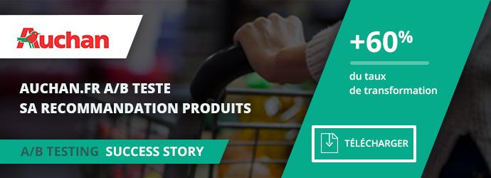 success story Auchan - A/B test recommandation produits