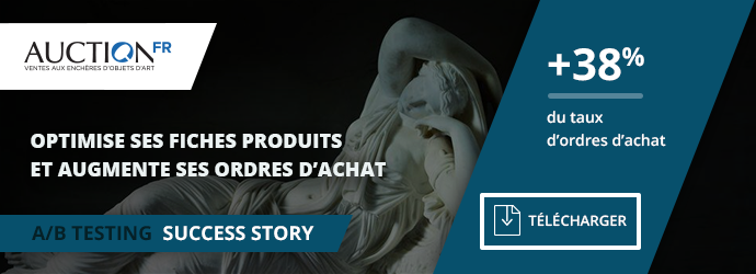 success story Auction - test A/B fiche produit