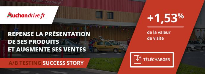 success story Auchan Drive - test MVT visuels produits