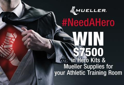 win $7500 in Hero Kits & Mueller Supplies for your Athletic Training Room #NeedAHero