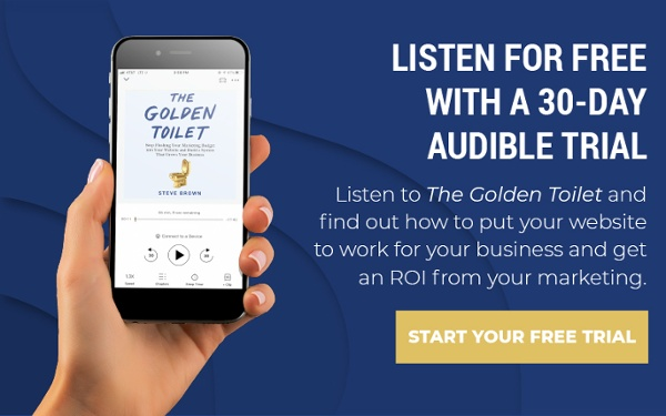 Amazon Audible The Golden Toilet cta