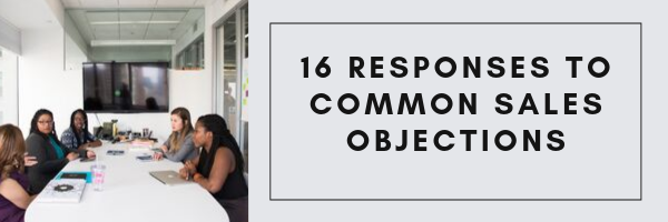 16 Responses to Common Sales Objections