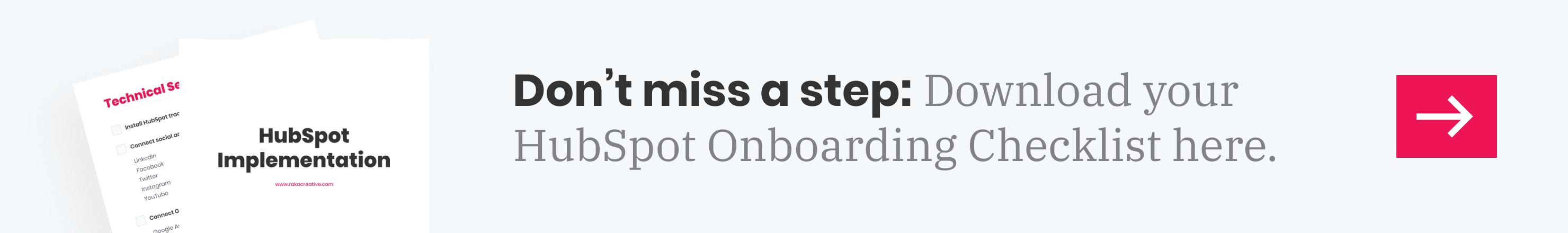 Onboarding checklist inline