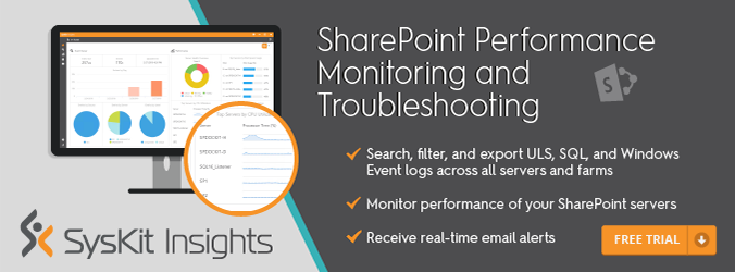 SharePoint Performance Monitoring