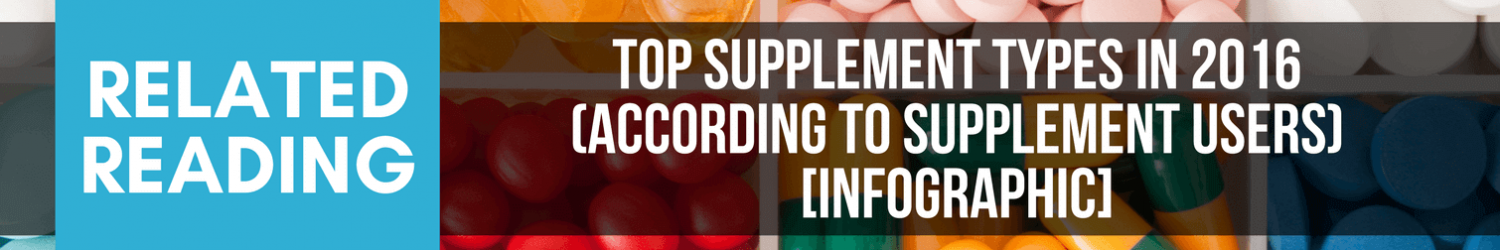 Related Reading: Top Supplement Types According to Users - Infographic
