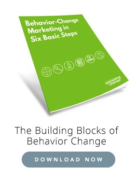 Behavior change marketing in six steps
