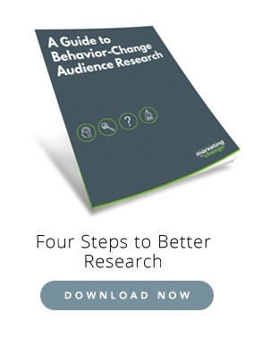 Behavior change audience research guide