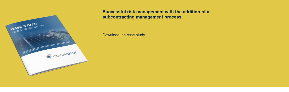 Successful risk management with the addition of a subcontracting management process.  Download the case study
