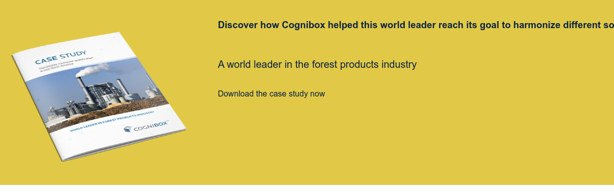 Discover how Cognibox helped this world leader reach its goal to harmonize  different sources of data into one tool   A world leader in the forest products industry  Download the case study now