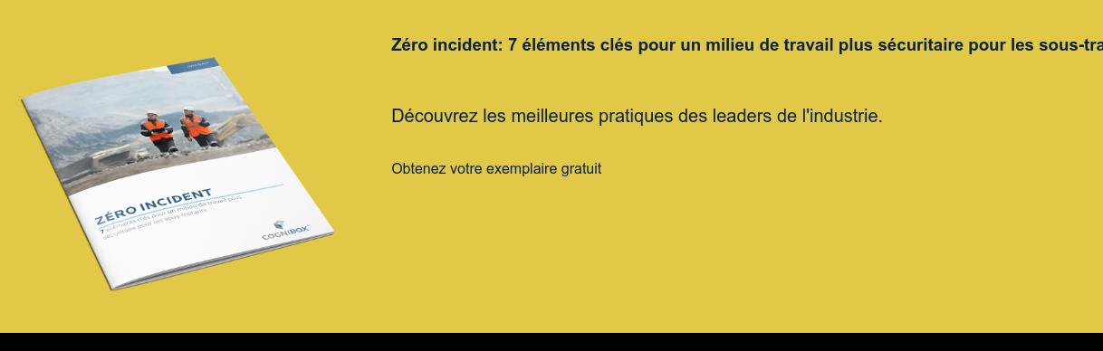 Zéro incident: 7 éléments clés pour un milieu de travail plus sécuritaire pour  les sous-traitants  Découvrez les meilleures pratiques des leaders de l'industrie. Obtenez votre exemplaire gratuit <>