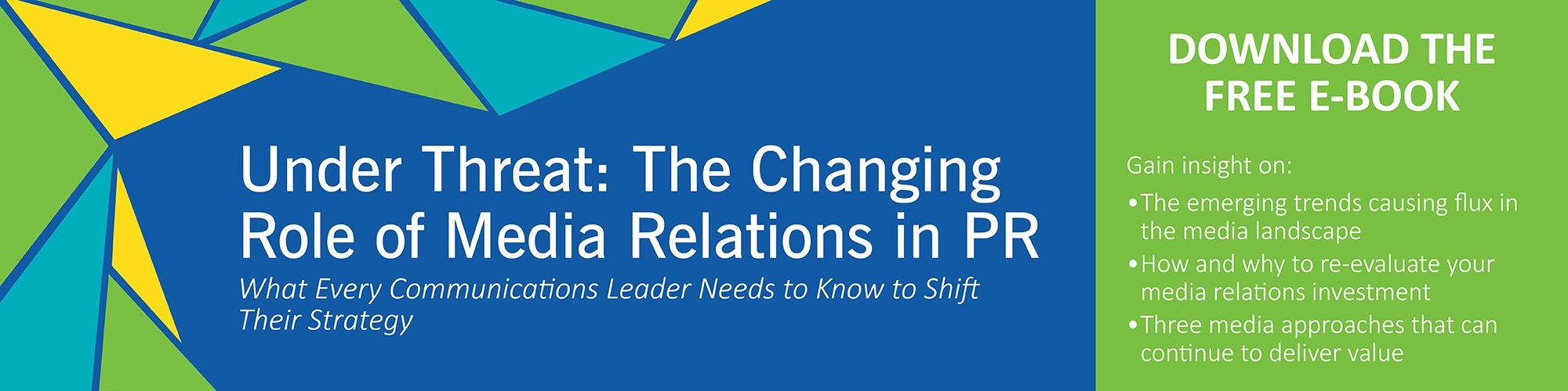 Under Threat: The Changing Role of Media Relations in PR [E-Book]