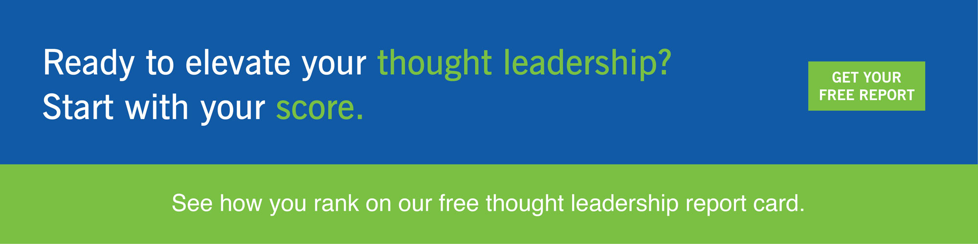 Get Your Free Thought Leadership Report Card