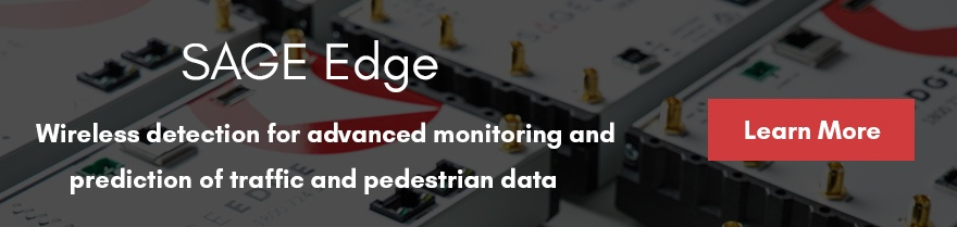 SAGE Edge data capture device for wireless detection and prediction of traffic data