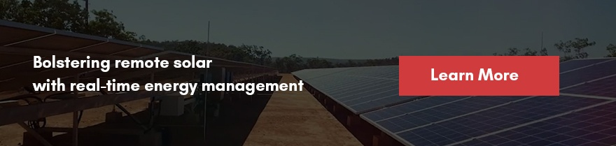 Bolstering remote solar with real-time energy management