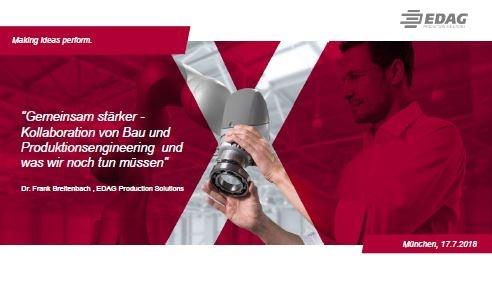 """Präsentation: """"Gemeinsam stärker - Kollaboration von Bau und  Produktionsengineering und was wir noch tun müssen"""""""