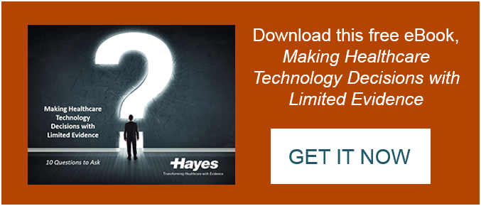 Download this free eBook, Making Healthcare Technology Decisions with Limited Evidence