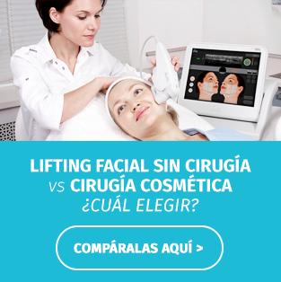 Lifting facial sin cirugía vs Cirugía estética - Dermaarte