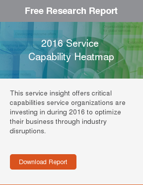 Free Research Report  2016 Service   Capability Heatmap  Discover the top 10 service capabilities your service organization should  invest in during 2016.     Download Report