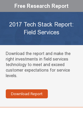 Free Research Report  2017 Tech Stack Report: Field Services  Download the report and make the right investments in field services  technology to meet and exceed customer expectations for service levels.     Download Report