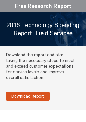 Free Research Report  2016 Technology Spending Report: Field Services  Download the report and start taking the necessary steps to meet and exceed  customer expectations for service levels and improve overall satisfaction.     Download Report