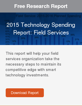 Free Research Report  2015 Technology Spending Report: Field Services  This report will help your field services organization take the necessary  steps to maintain its competitive edge with smart technology investments.    Download Report