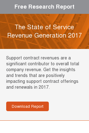 Free Research Report  2017 Tech Stack Report: Service Revenue Generation  Support contract revenues are a significant contributor to overall total  company revenue. Get the insights and trends that are positively impacting  support contract offerings and renewals in 2017.     Download Report