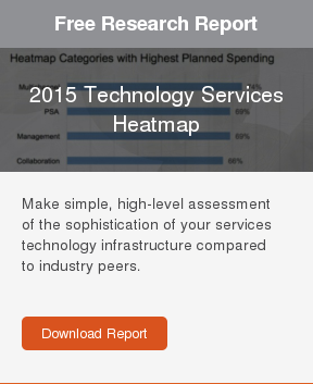 Free Research Report  2015 Technology Services Heatmap  Make simple, high-level assessment of the sophistication of your services  technology infrastructure compared to industry peers.     Download Report