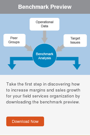 Benchmark Preview  Take the first step in discovering how to increase margins and sales growth  for your field services organization by downloading the benchmark preview.     Download Now