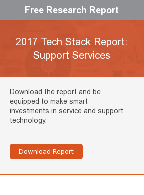 Free Research Report  2017 Tech Stack Report: Support Services  Download the report and be equipped to make smart investments in service and  support technology.     Download Report
