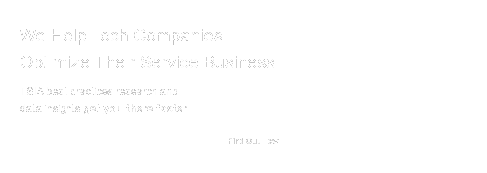 We Help Tech Companies Optimize Their Service Business
