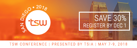 Register Now and Save 30% TSW 2018