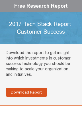 Free Research Report  2017 Tech Stack Report: Customer Success  Download the report to get insight into which investments in customer success  technology you should be making to scale your organization and initiatives.     Download Report