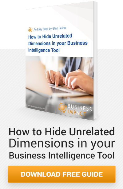 free guide to hiding unrelated dimensions in your business intelligence tool