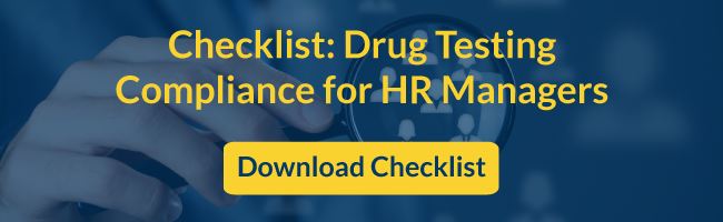 Drug Testing Compliance checklist for HR Managers