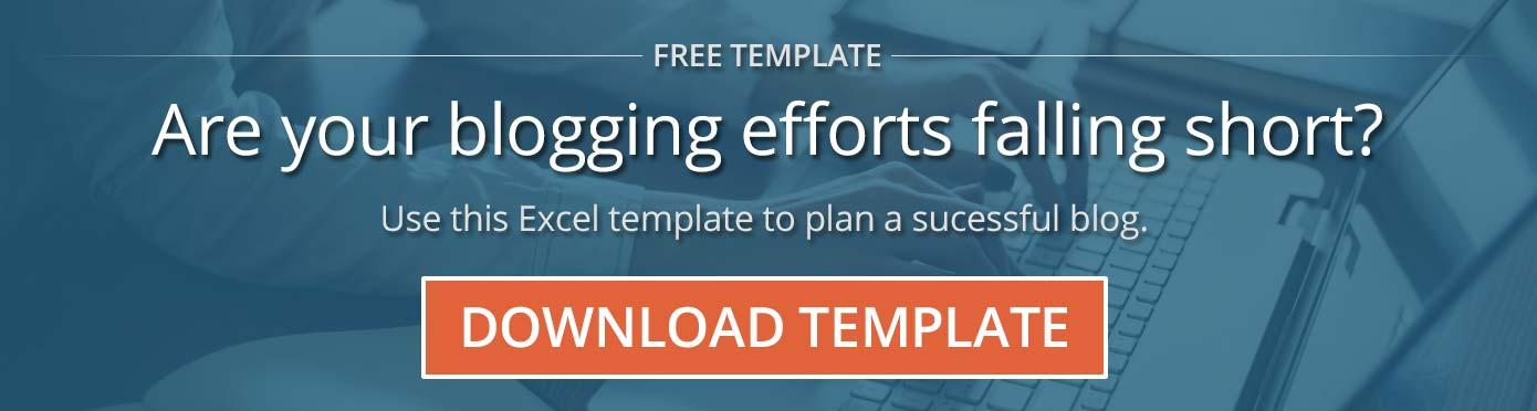 Free Template: Plan Your Blog Like a Pro. Download Now.