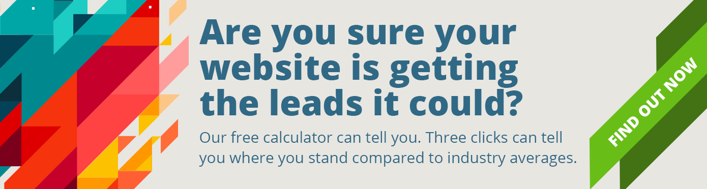 Use our website lead calculator to find out if your website is getting the leads it should