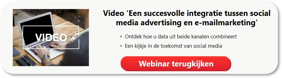 Webinar integratie data social media advertising en e-mailmarketing