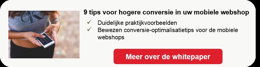 Conversie-tips voor mobiele webshop