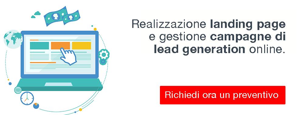 Realizzazione landing page e campagne di lead generation