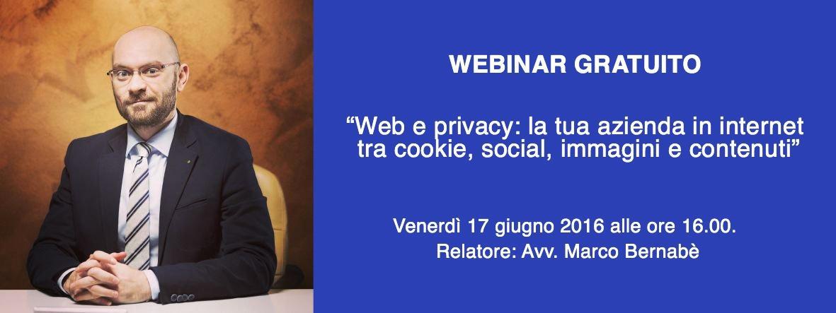 Iscriviti al webinar Web e Privacy