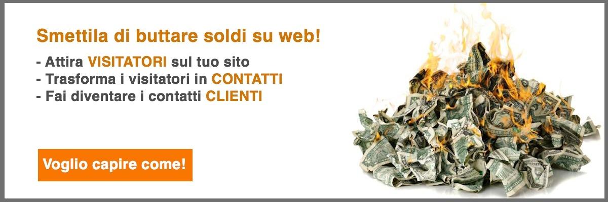 smettila di buttare soldi da web - consulenza introduttiva inbound